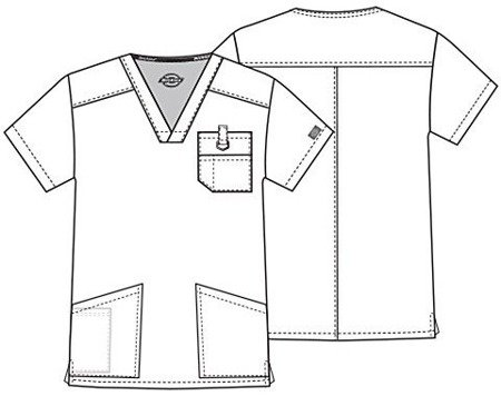 Bluza Medyczna Dickies 81906 Biała