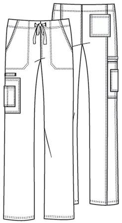 Granatowe spodnie medyczne Cherokee 4043 unisex